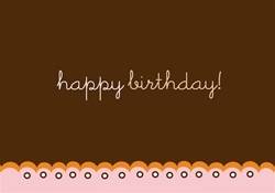 C3X50037 3x5 Occasion Card - Happy Birthday - Cupcake