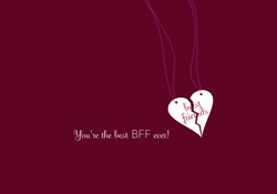 C3X50047 Occasion Card - You're the best BFF ever