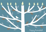 NH160015 Note Cards - Happy Hannukah