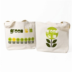 100% Recycled tote Green is In