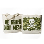 100% Recycled tote Camo Skull, Natural