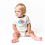 ONE3008 3 mos. Organically Cute Onesie